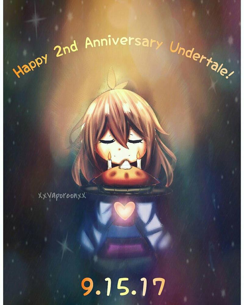 2 Year Anniversary Undertale by VaporeonDraws