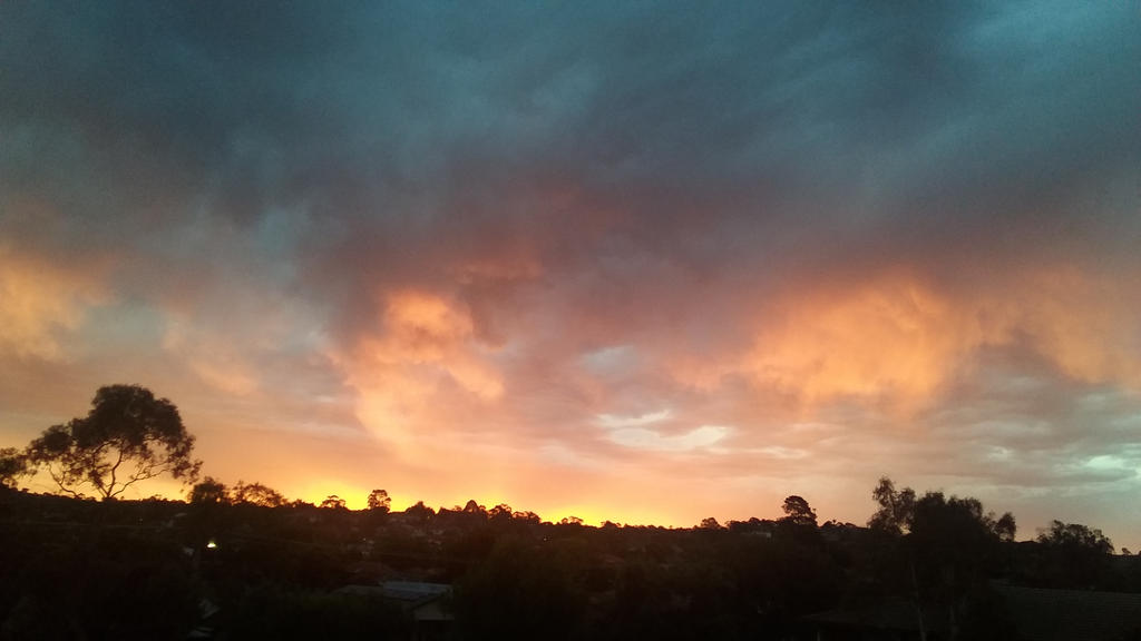 sunset after a storm 2 by heilo