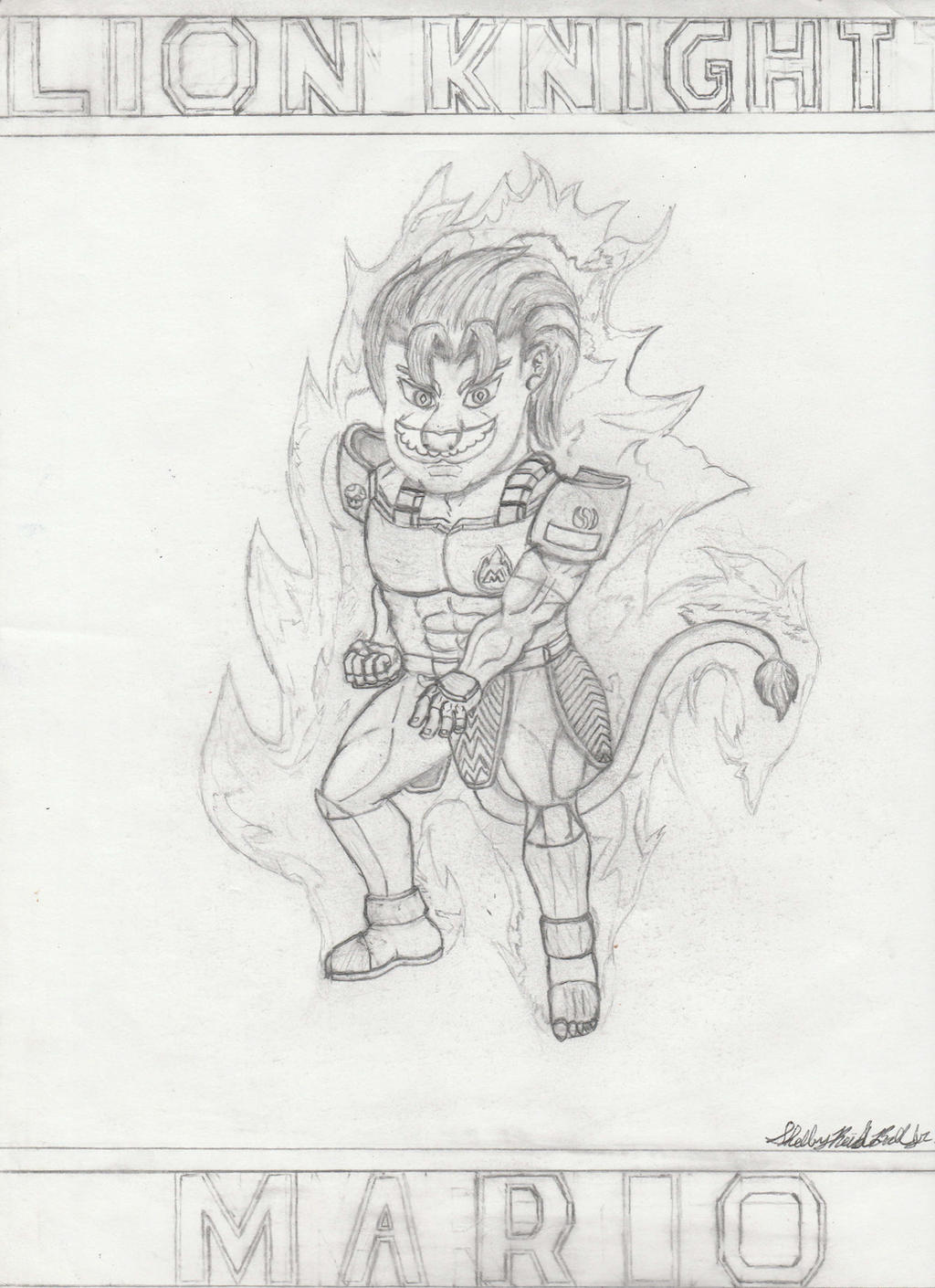 Lion Knight Mario by Ph03n1x-Warr1or-Z