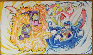 Custom Playmat: YuGiOh Mermail vs FireFist
