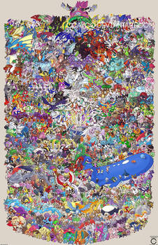 Pokemon Draw Em All (Gen 1-6)