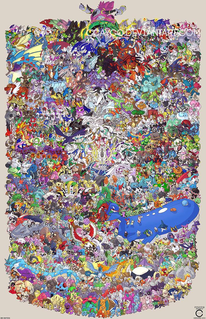 Pokemon Draw Em All Gen 1 6 By Ccayco On Deviantart