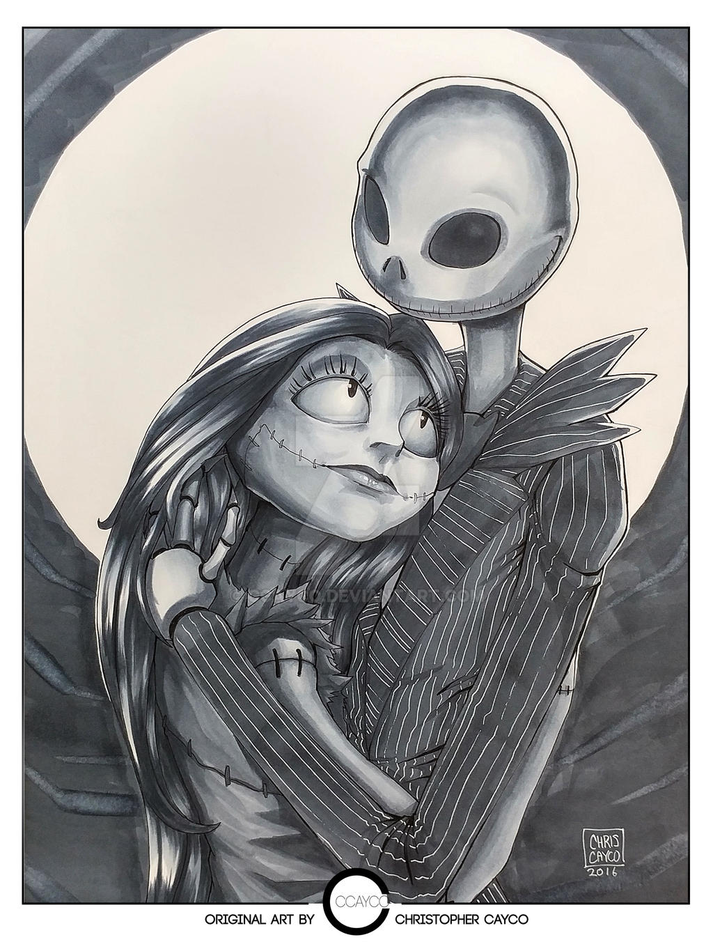 Jack and Sally Commission by ccayco on DeviantArt