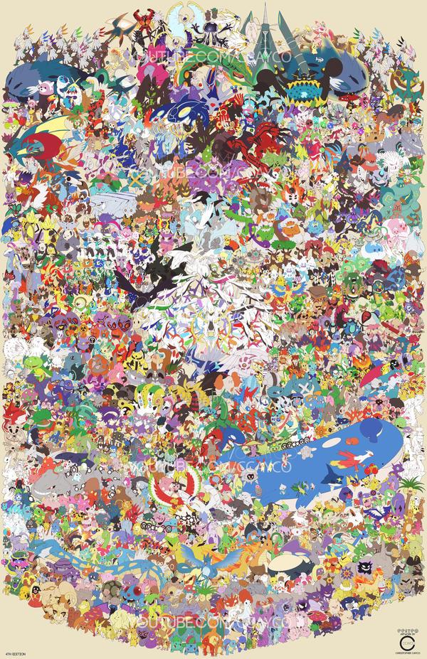 pokemon draw em all gen 1 7 by ccayco on deviantart