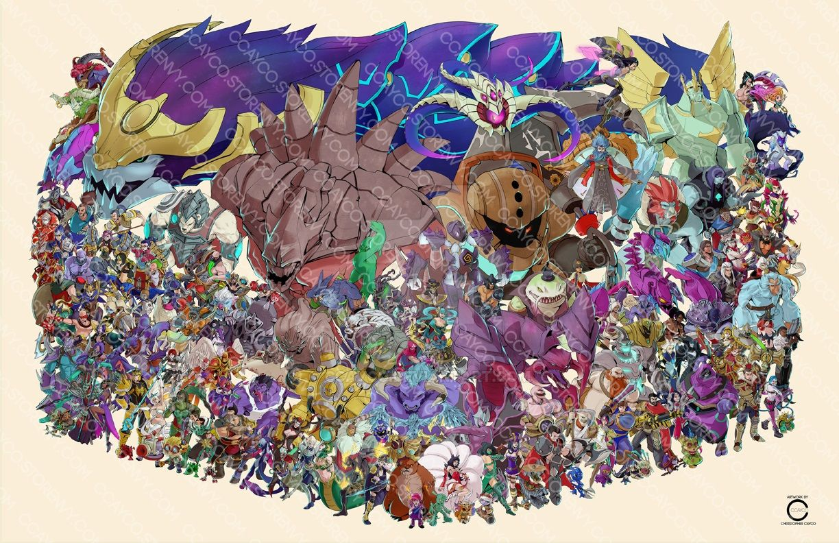 Every League of Legends Champion by ccayco
