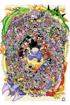 Every Dragon Ball Character Collage