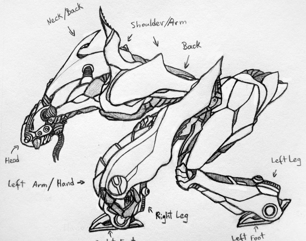 Robot Concept Drawings Drawings Robot Concept