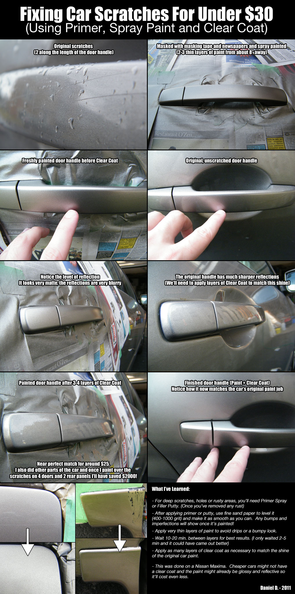 how to fix scratches on car reddit