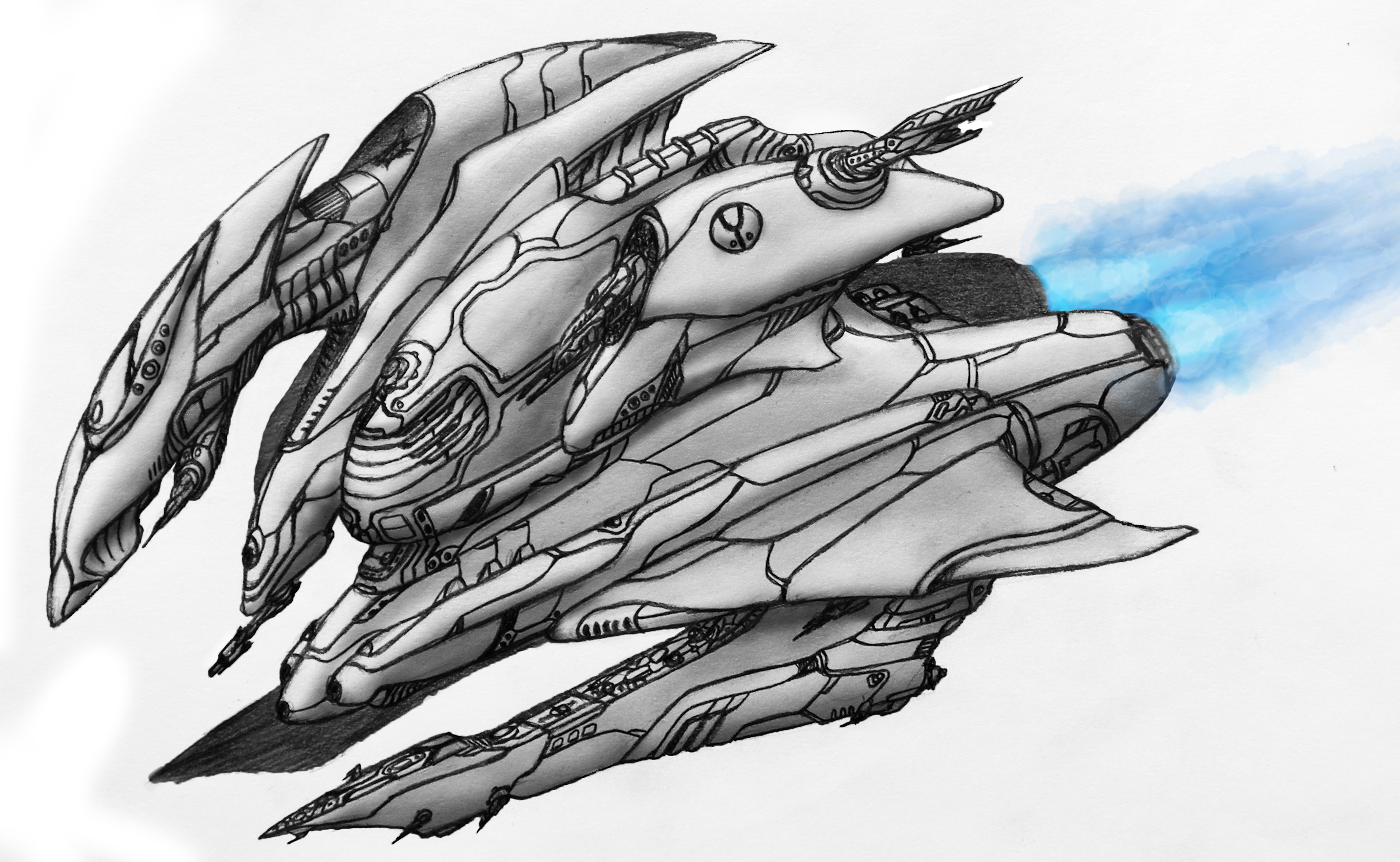 Space Ship Drawing