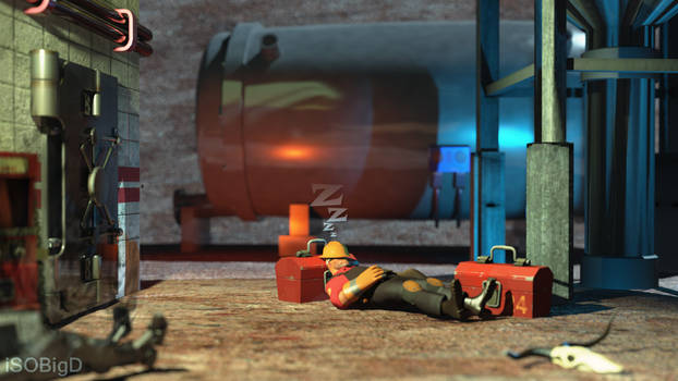 TF2 Sleeping Engineer Animation Preview Render