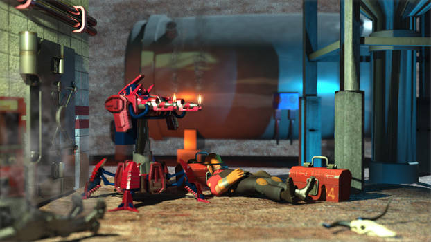 Team Fortress 2 Level 3 Fire Sentry