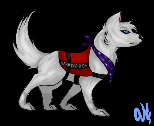 Sora The Service Dog By Crescent Moon123 On Deviantart