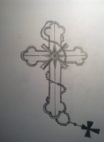 Tattoos Designs Sketches Cross Tattoo Sketch Cross by