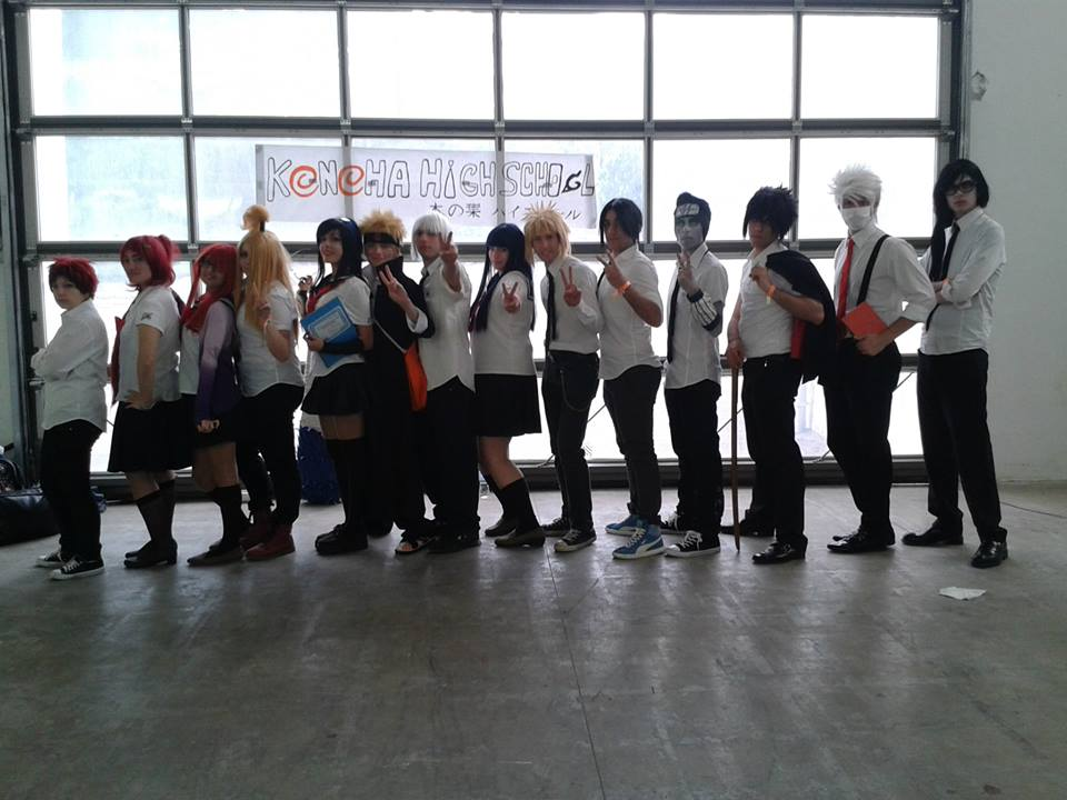Naruto Konoha High School Group 2 by HinaNekosama