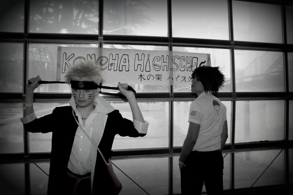 Sasuke and Naruto - Konoha High School by HinaNekosama