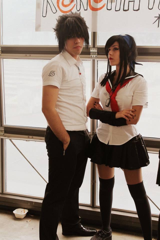 Sasuko and Sasuke - Konoha High School by HinaNekosama
