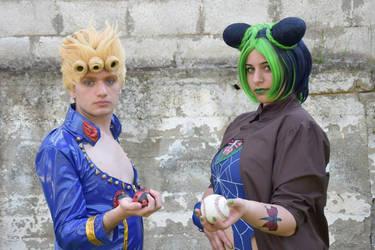 Giorno Giovanna with Jolyne Kujo