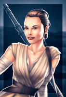 Rey, Star Wars: The Force Awakens by EverHobbes