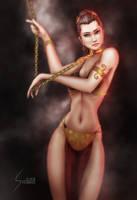 Slave Leia, Star Wars (updated) by EverHobbes
