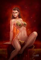 Slave Rey, Star Wars by EverHobbes