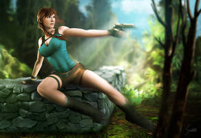 Lara Croft, Tomb Raider, Classic Outfit Alt by EverHobbes