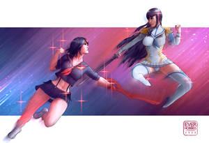 Satsuki Kiryuin and Ryuko Matoi, Kill La Kill