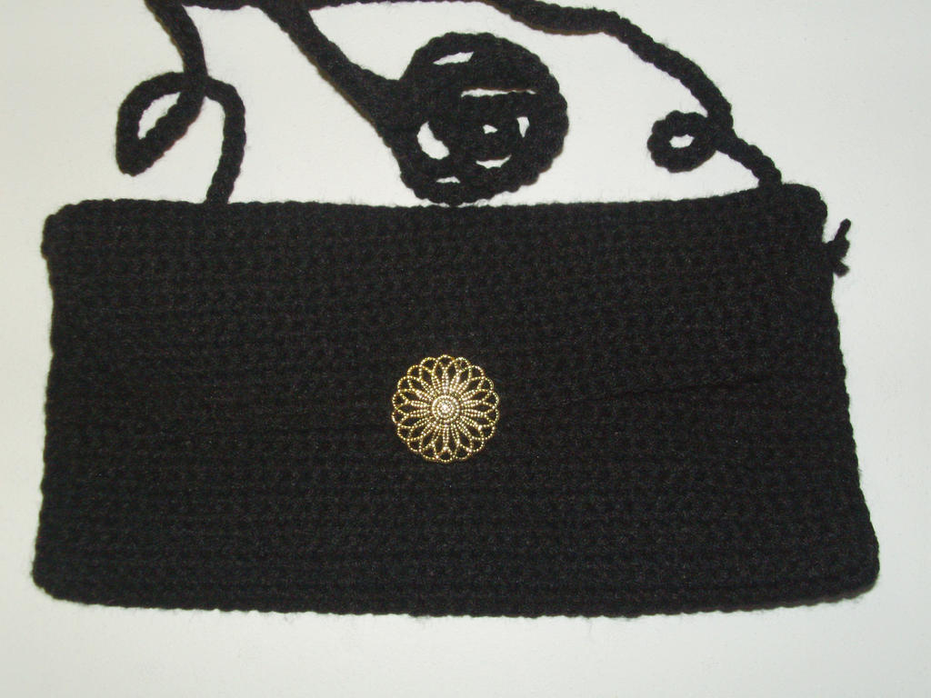 Little Black Elegant Crochet Purse by Kathskrafts on deviantART