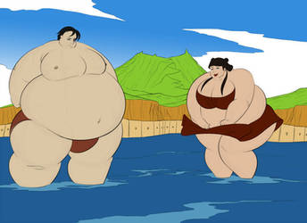 Avatar Giant Sumo Guardians Zuko x Mai by Giganticluv