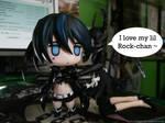 She loves Rock-chan