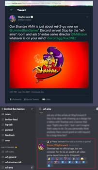 Evidence: Shantae is an adult