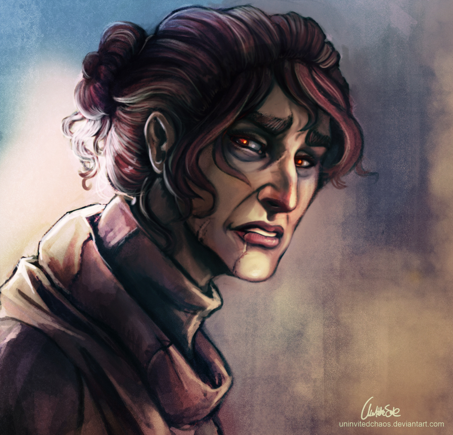 They really hurt me -painting- by UninvitedChaos