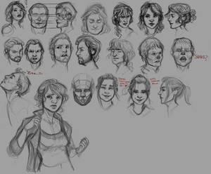 Faces -sketches-