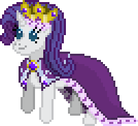 Queen Rarity Sprite by Happybunns
