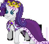 Queen Rarity Sprite by Happybunns