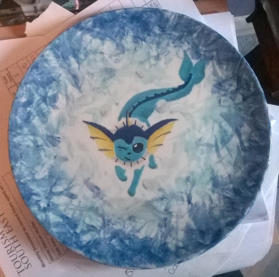 Vaporeon Plate by GyptianDragonRider