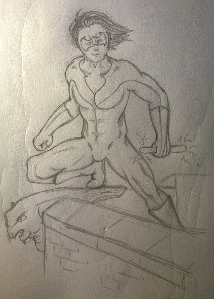 Nightwing before colour by GyptianDragonRider