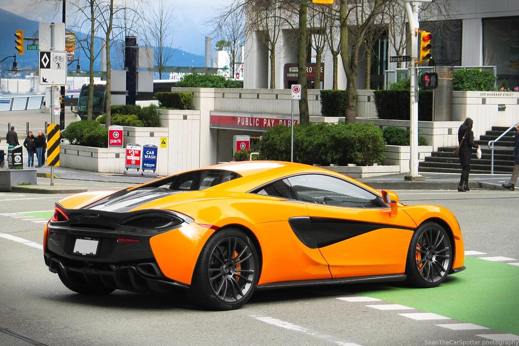 Orange Mclaren 570S by SeanTheCarSpotter