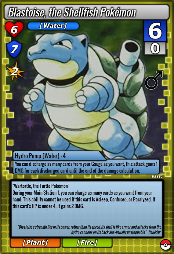 Blastoise, the Shellfish Pokemon (Basic) by Cross-X-Card on DeviantArt