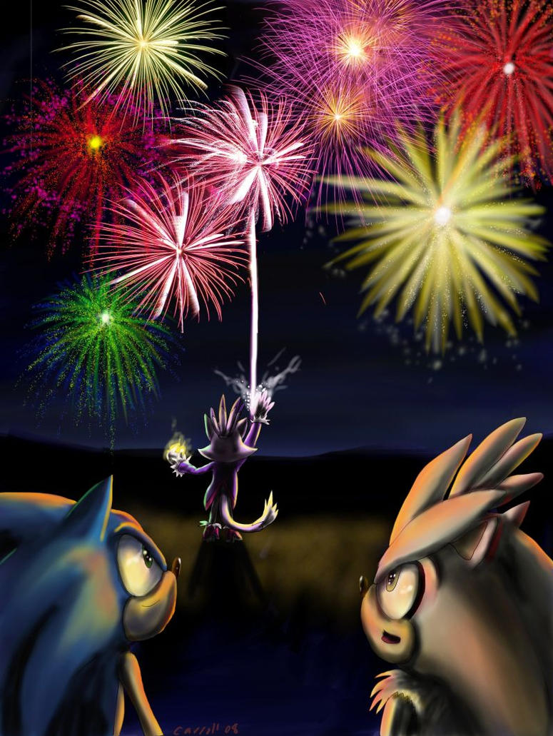 The Mad Fireworks Conductor by NetRaptor