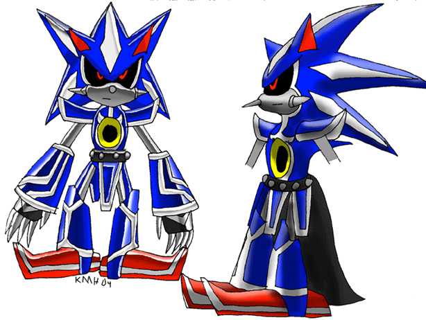 Metal Sonic's new look by NetRaptor