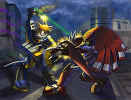 Tails vs. Robo Knux by NetRaptor