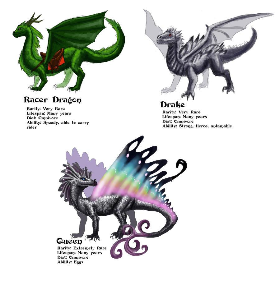 Three rare dragons by NetRaptor