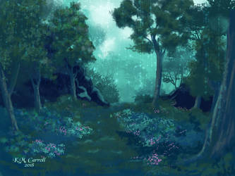 Misty forest by NetRaptor