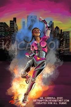 Commission: Superhero book cover 2