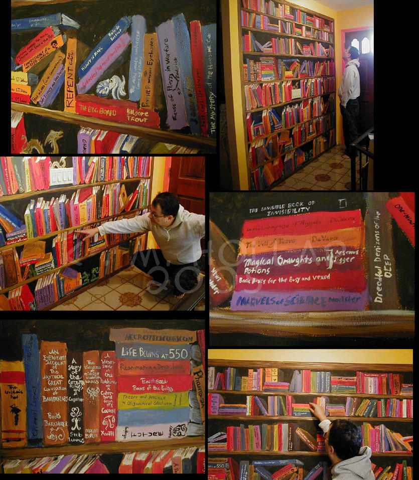 Bookcase Mural by NetRaptor