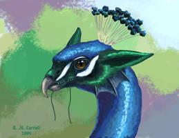 Peacock-dragon portrait by NetRaptor