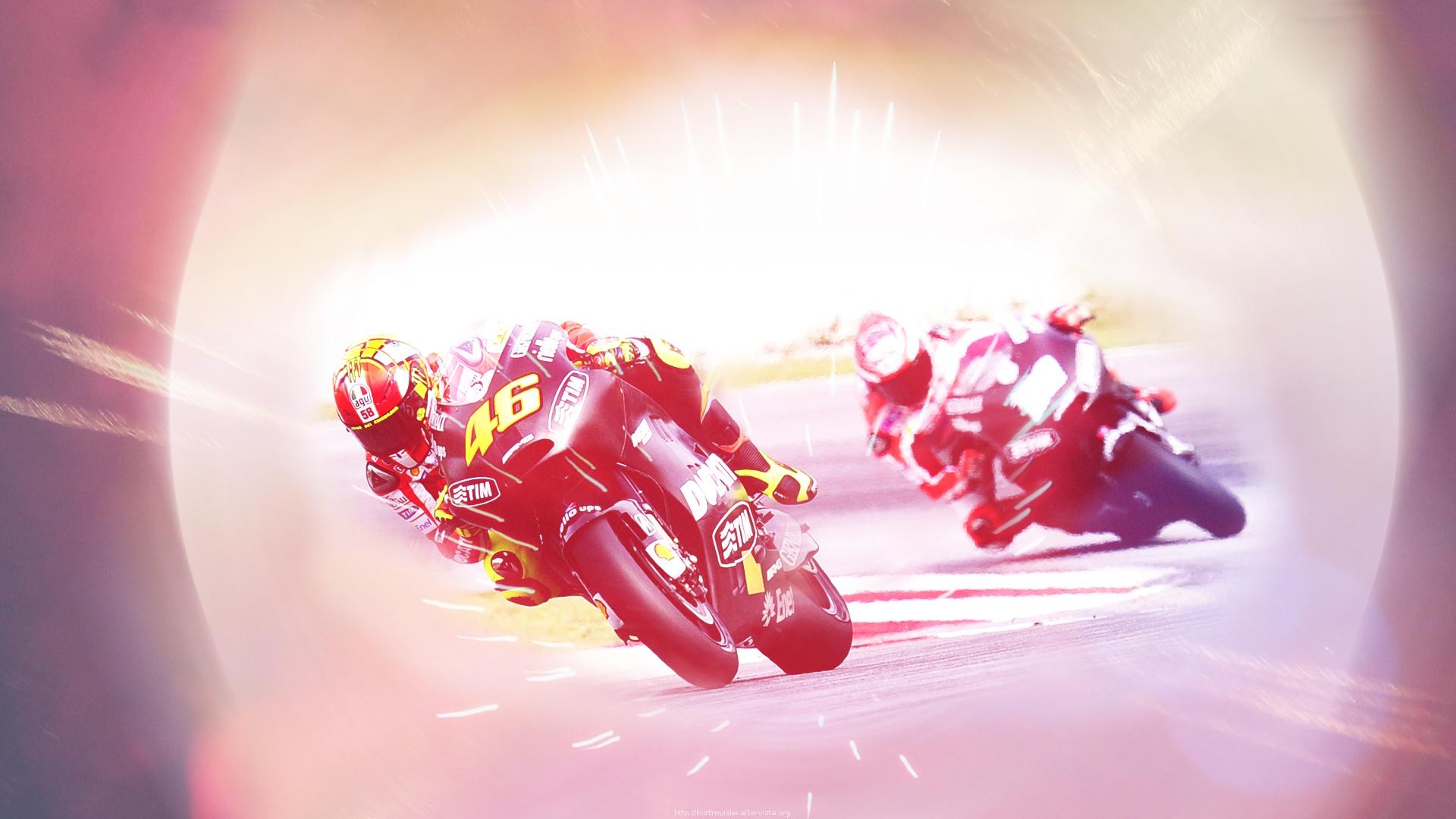 Valentino Rossi n' Nicky Hayden - Ducati Wallpaper by KurtMurder
