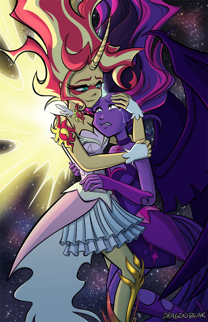 Daydream Shimmer and Midnight Sparkle by DragonBeak on ...