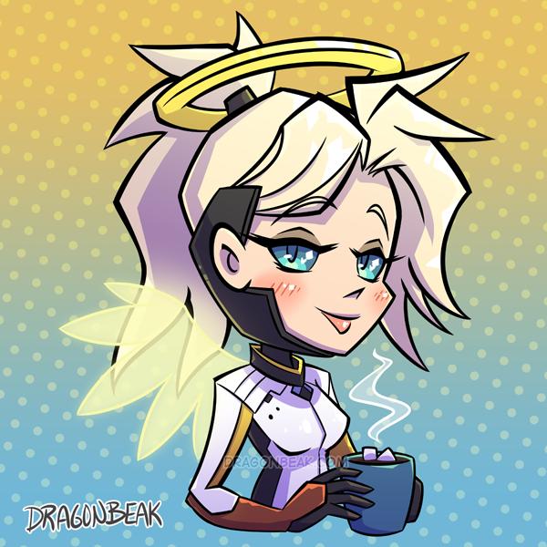 Mercy and Hot Chocolate by DragonBeak