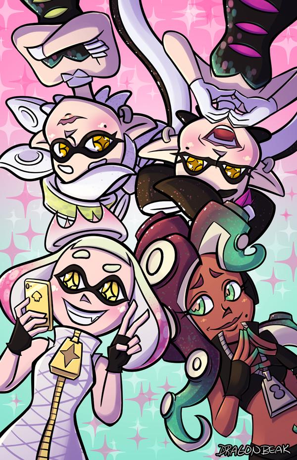 Squid Sisters vs Off the Hook by DragonBeak